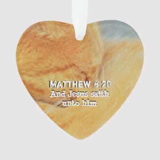 Matthew 8 : 20 ornament