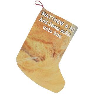 Matthew 8 : 20 small christmas stocking