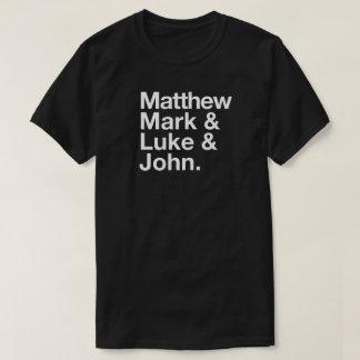 Matthew Mark Luke John Typographic T-Shirt