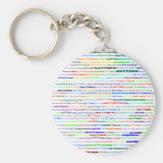 Matthew Text Design II Keychain