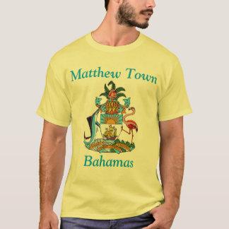 Matthew Town, Bahamas with Coat of Arms T-Shirt