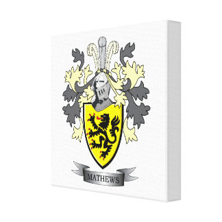 Matthews Family Crest Canvas Print