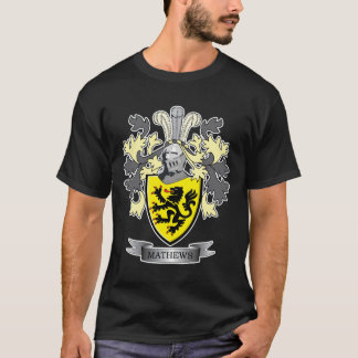 Matthews Family Crest Coat of Arms T-Shirt