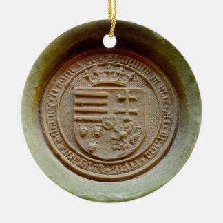 Matthias Corvinus seal budapest museum hungary wax Ceramic Ornament