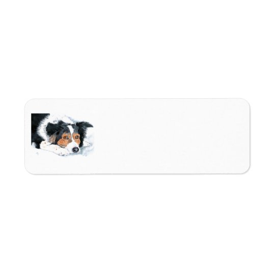 Mattie the Border Collie Return Address Label