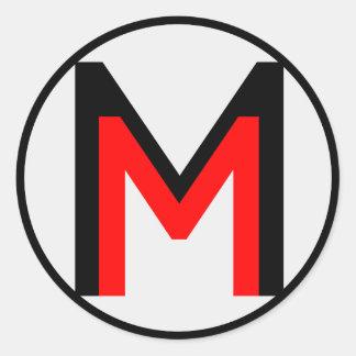 MattMen: The Sticker! Classic Round Sticker