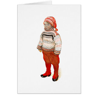 Matts in Sweater and Stocking Hat Card
