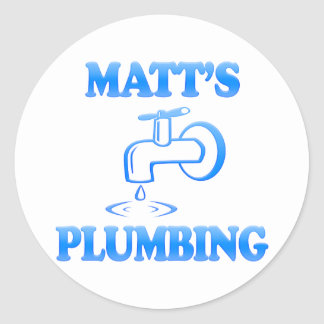 Matt's Plumbing Round Sticker