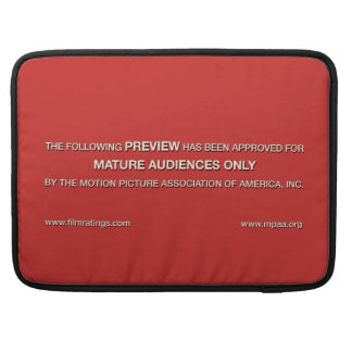 Mature audiences only sleeve for MacBooks