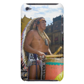 Mature man playing drums with drumstick, Zocalo, iPod Touch Case