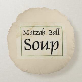 Matzah Ball Soup Round Cushion