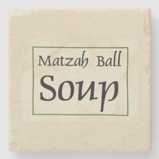 Matzah Ball Soup Stone Coaster