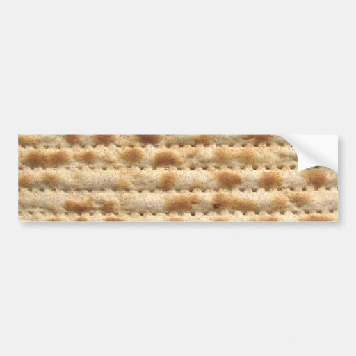Matzah biscuit flatbread bumper sticker
