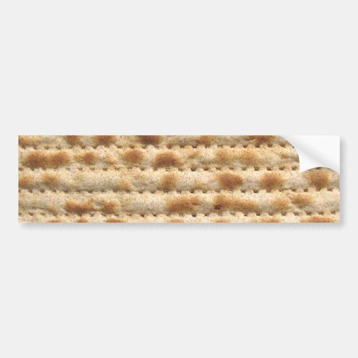 Matzah biscuit flatbread bumper sticker