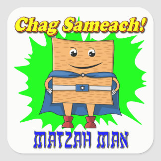 Matzah Man Passover Stickers