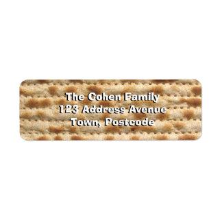 Matzah Return Address Label