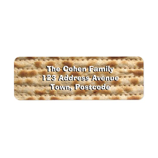 Matzah Return Address Label