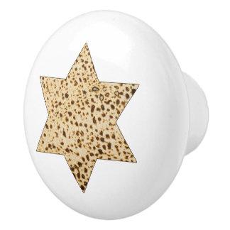Matzah Star of David Ceramic Knob