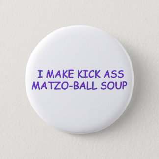 MATZO-BALL MASTER 6 CM ROUND BADGE