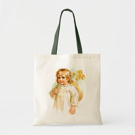 Maud Humphrey: Autumn Girl with Golden Rod Tote Bags