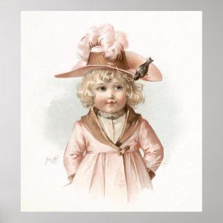 Maud Humphrey's Autumn Girl Poster