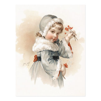 Maud Humphrey's Winter Girl Postcard