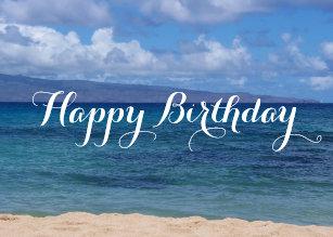 Beach Birthday Cards Zazzle Com Au