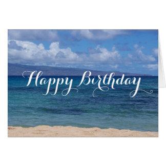 Maui Beach Birthday Card