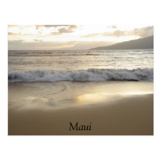 Maui Beach postcard, photograph, ocean sunset Postcard