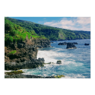 Maui coastline poster