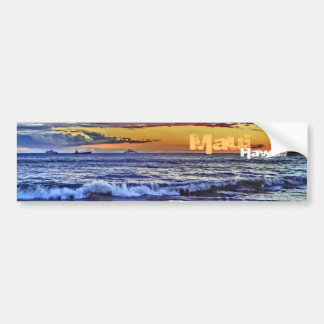 Maui Hawaii beach bumpersticker Bumper Sticker