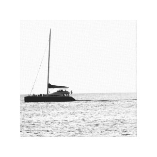 Maui, Hawaii Sunset (Black and White) Canvas Print
