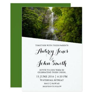 Maui Hawaii Waterfall Wedding Invitation