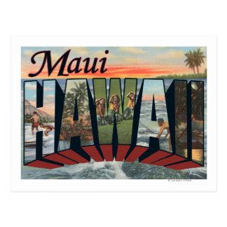 Maui HawaiiLarge Letter ScenesMaui HI Postcard
