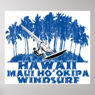 Maui Ho'okipa windsurfing Print