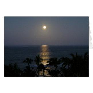 Maui Moonrise Full Moon Card