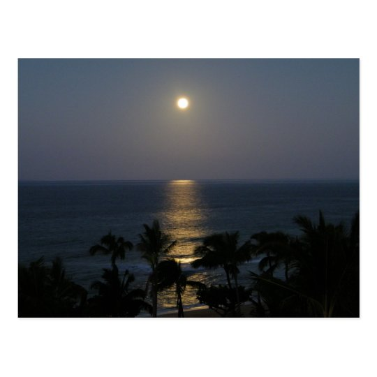 Maui Moonrise Full Moon Postcard