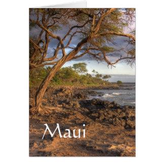 Maui ocean view card