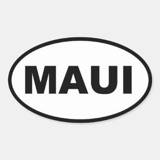 Maui Oval Sticker