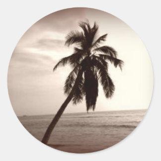 Maui Palm Tree Round Sticker