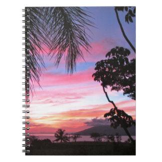 Maui sunset notebooks