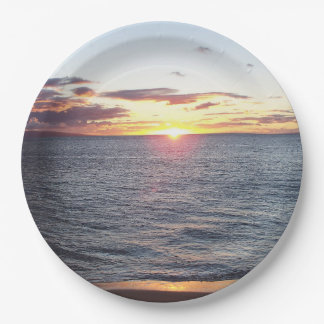 Maui Sunset Paper Plate