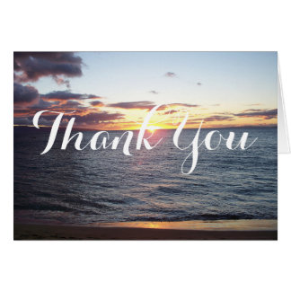 Maui Sunset Thank You Card