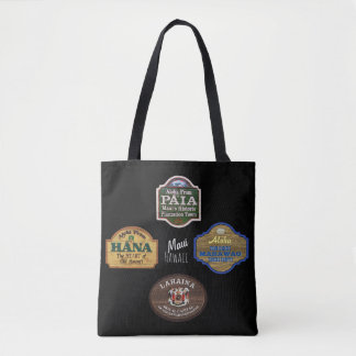 Maui Town Signs Tote Bag