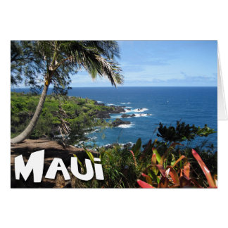 Maui View - Tropical Paradise Card