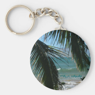 Maui's Tropical Beauty Basic Round Button Key Ring