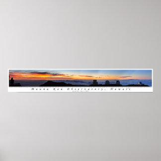 Mauna Kea Sunset Panorama Poster
