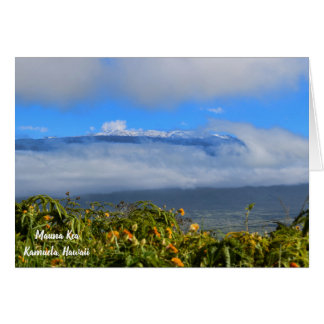 Mauna Kea with Snow Card