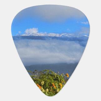 Mauna Kea with Snow Guitar Pick