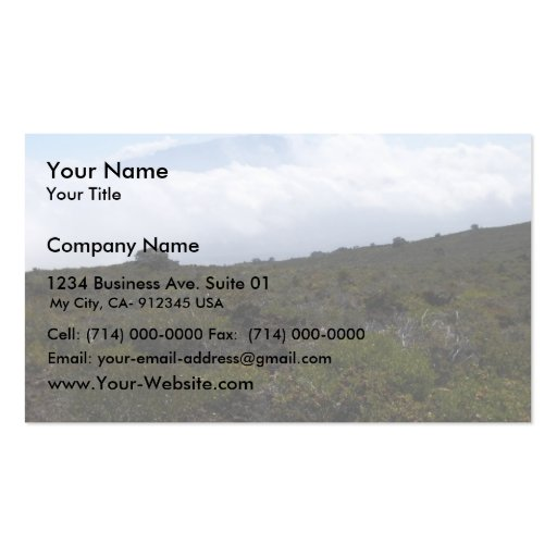 Mauna Loa From The Summit Of Hualalai Volcano, Kon Business Card Template